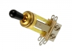 3-Way Switchcraft® Toggle Switch • Straight • Long • Gold