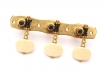 Gotoh 3x3 On-A-Plate Classical Tuners • Solid Brass