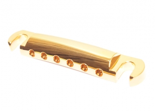Gotoh® Stopbar Tailpiece • Gold • Metric Studs • Rounded Stud Top