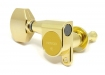 Gotoh® 6-In-Line Tuners • SG360 (Schaller® Style) • Gold • Small Modern Button • Left Hand