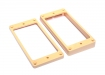 Humbucker Pickup Mounting Rings • Slanted w/Curved Bottom • Cream