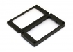 Humbucker Pickup Mounting Rings • Flat • Black
