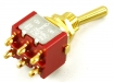 Mini Toggle Switch • 3-Way • On/Off/On • Gold