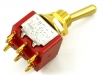 Mini Toggle Switch • 2-Way • On/On • Gold