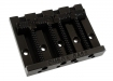 Omega 'Badass Style' Bass Bridge • Black • Grooved