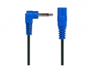 Power-All® Cable for Pedal Power Supplies • 3.5 mm Phone Plug • Right Angle