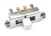 Switchcraft® Slide Switch • 3-Way (Duosonic®/Mustang® Style) • White Tip