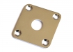 Square LP® Style Jackplate • Curved Metal • Chrome