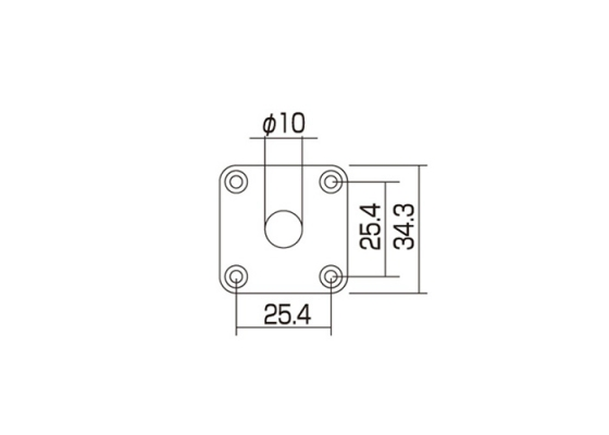 square metal jack plate for les paul  curved  gold