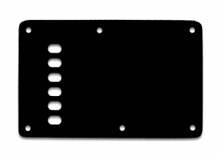 Stratocaster® Style Tremolo Backplate • Vintage • Black Thin