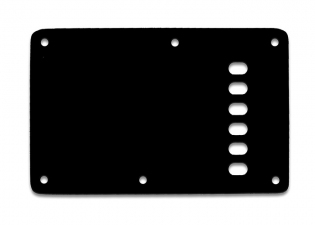 Stratocaster® Style Tremolo Backplate • Vintage • Black Thin • Left Handed