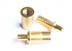 Wide Post Studs and Anchors for Metric Tune-O-Matic Bridge • Gold