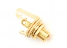 Switchcraft® Output Jack Socket • 3/8'' Long Thread • Mono • Gold