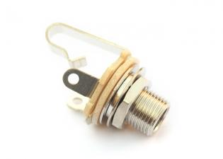 Switchcraft® Output Jack Socket • 3/8'' Long Thread • Mono • Nickel