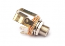 Switchcraft® Output Jack Socket • 3/8'' Long Thread • Stereo • Nickel