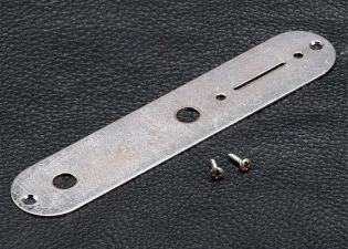Telecaster® Style Control Plate • Chrome • Aged/Relic