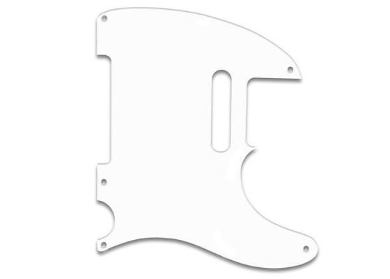 Telecaster Guitar Pickguard 5 Hole White Thin Guitartrade