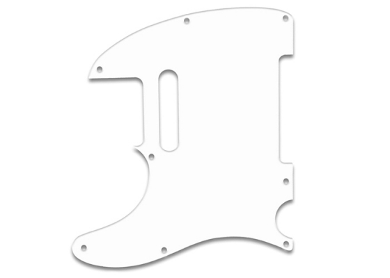 Telecaster Guitar Pickguard 5 Hole White Thin Left Handed