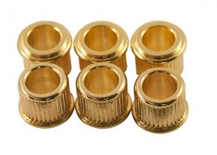 Kluson® Tuner Bushing • USA • 10 mm OD / 6.35 mm ID • Gold